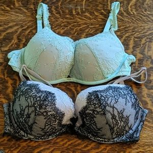 Pair of push up Victoria's Secret bra's